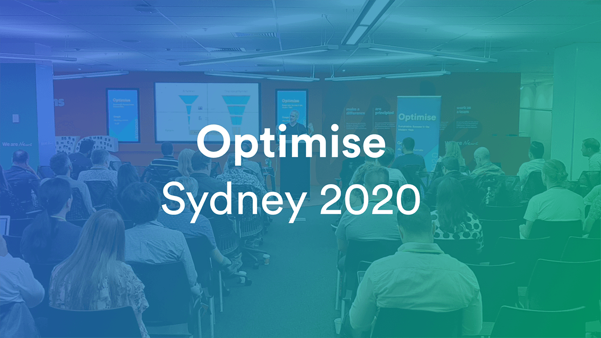 A panel at Optimise Sydney 2020